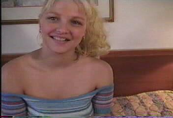 Young beautiful Russian girl in a hot video