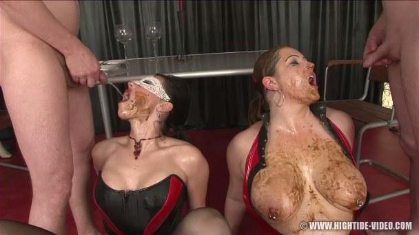dinner.mov.017.jpg. Models: Regina Bella, Louise Hunter, 2 Males