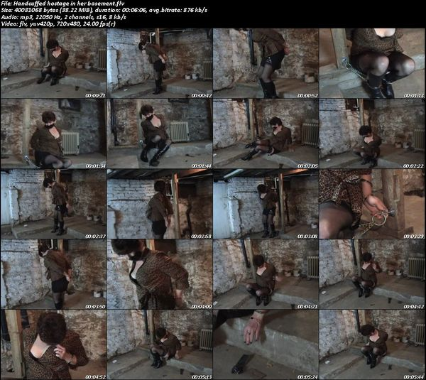 Handcuffed hostage in her basement.flv (38.2 Mb)
