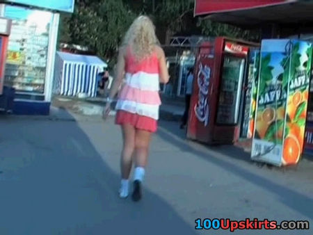 That young blonde under skirt - video spying