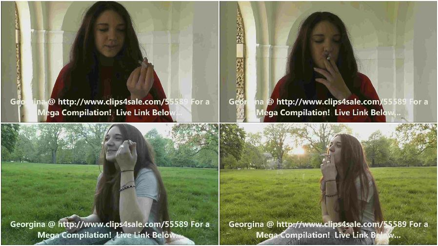 Smoking young girl - porn video