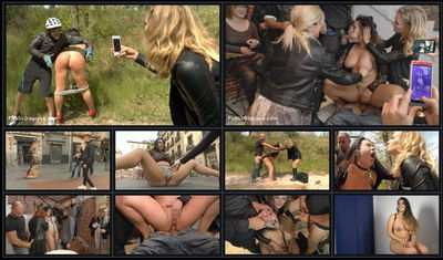 Public Disgrace - Jun 19, 2015 - Mona Wales, Xavi Tralla and Klara Gold