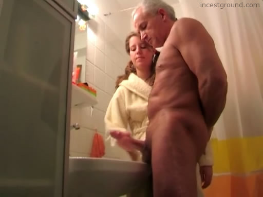 Jerking Off Dad