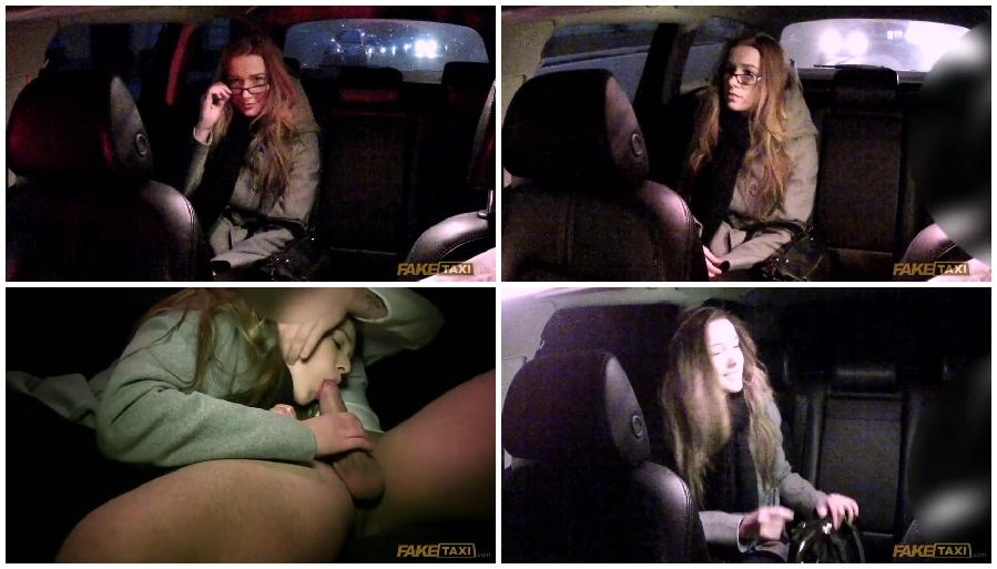 Student for the money in the car makes a very sweet blowjob