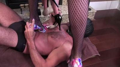 Clubstiletto - Used and Abused Rug Goddess Holly, Miss Jasmine, Mistress Kandy, Mistress Staci