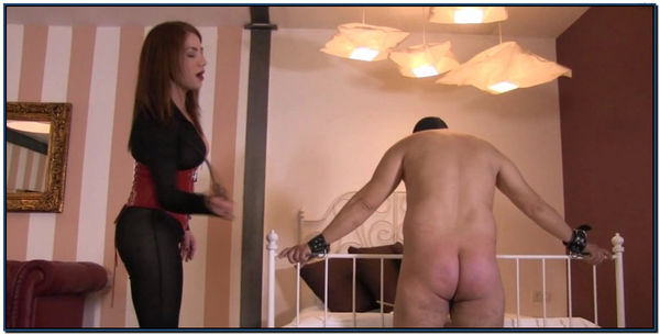 Relentlessly Whipping A Slaves Bare Ass Female Domination