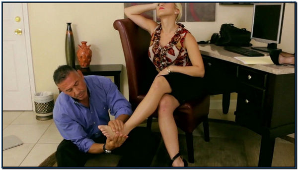 Co-Worker Under Her Feet Female Domination Foot Fetish