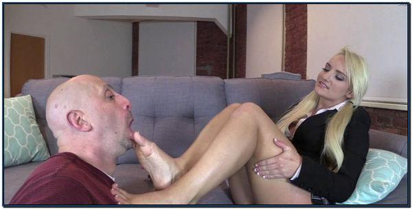 Makes Mr Puckerman Her Foot Bitch Female Domination Foot Fetish