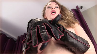 Mistress t leather gloves the
