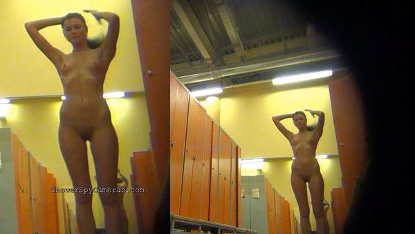 Spying in the women's locker room . Hidden Cam