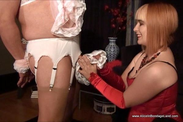 Femdom sissy panties cock