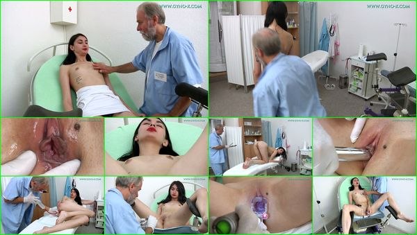 Medical Fetish, Gyno Exam, Close Ups, Vaginal & Anal Enema, Brunette, Tampon