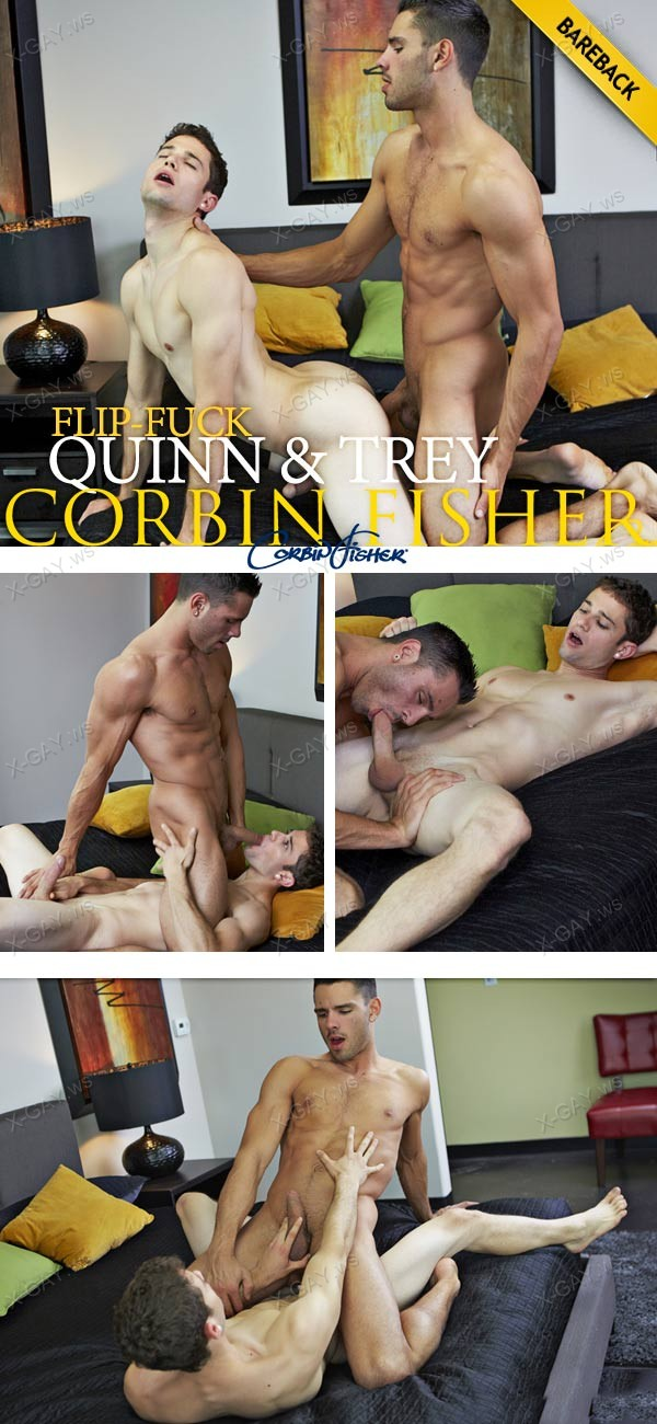 CorbinFisher: Quinn and Trey's Bareback Flip Fuck