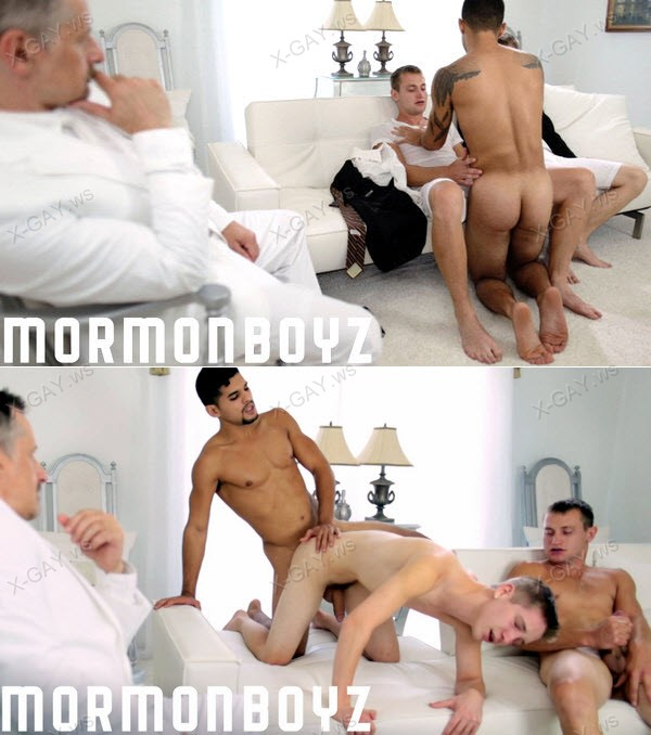 MormonBoyz: Elder Berry, Elder Stewart: Adoption Ceremony (with Brother Angel Morales) (Bareback)