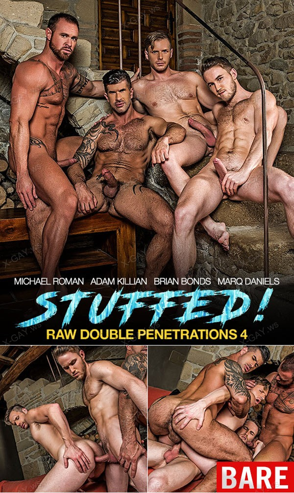 LucasEntertainment: Raw Double Penetrations 4: Stuffed (Adam Killian, Marq Daniels, Brian Bonds, Michael Roman) (Bareback)