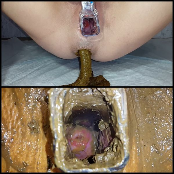 Through the speculum – shitting porn, Efro, poop smear, Full HD 1080p (Release Year: 2017)