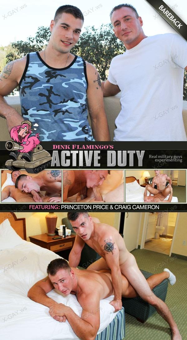 ActiveDuty: Princeton Price, Craig Cameron (Bareback Flip Fuck)