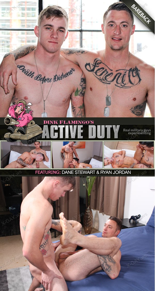 ActiveDuty: Dane Stewart, Ryan Jordan (Bareback Flip Fuck)