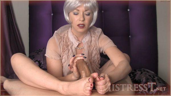 Mature mistress footjob